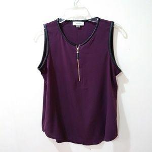 Calvin Klein zipper front top